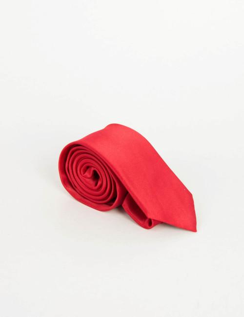 Ανδρική κόκκινη μονόχρωμη γραβάτα 28582