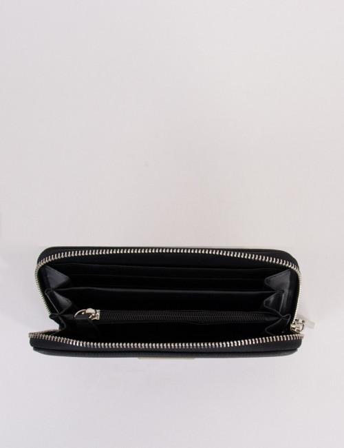 Γυναικείο μαύρο σαγρέ πορτοφόλι δερματίνη DFX16933
