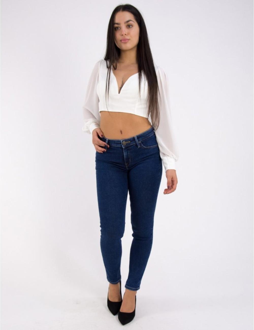Γυναικείο μπλε τζιν παντελόνι Lee Scarlett L526DTJB