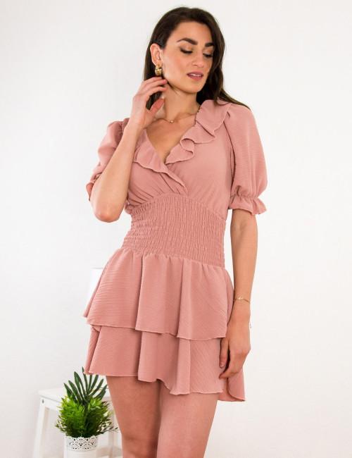 Γυναικείο σομόν φόρεμα 21709S