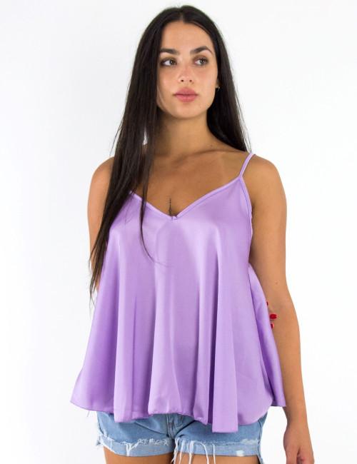 Γυναικείο λιλά ραντάκι lingerie 0814L