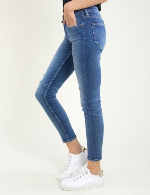 Γυναικείο μπλε τζην παντελόνι ξεβαμμένο Lee Scarlett L30WRONK
