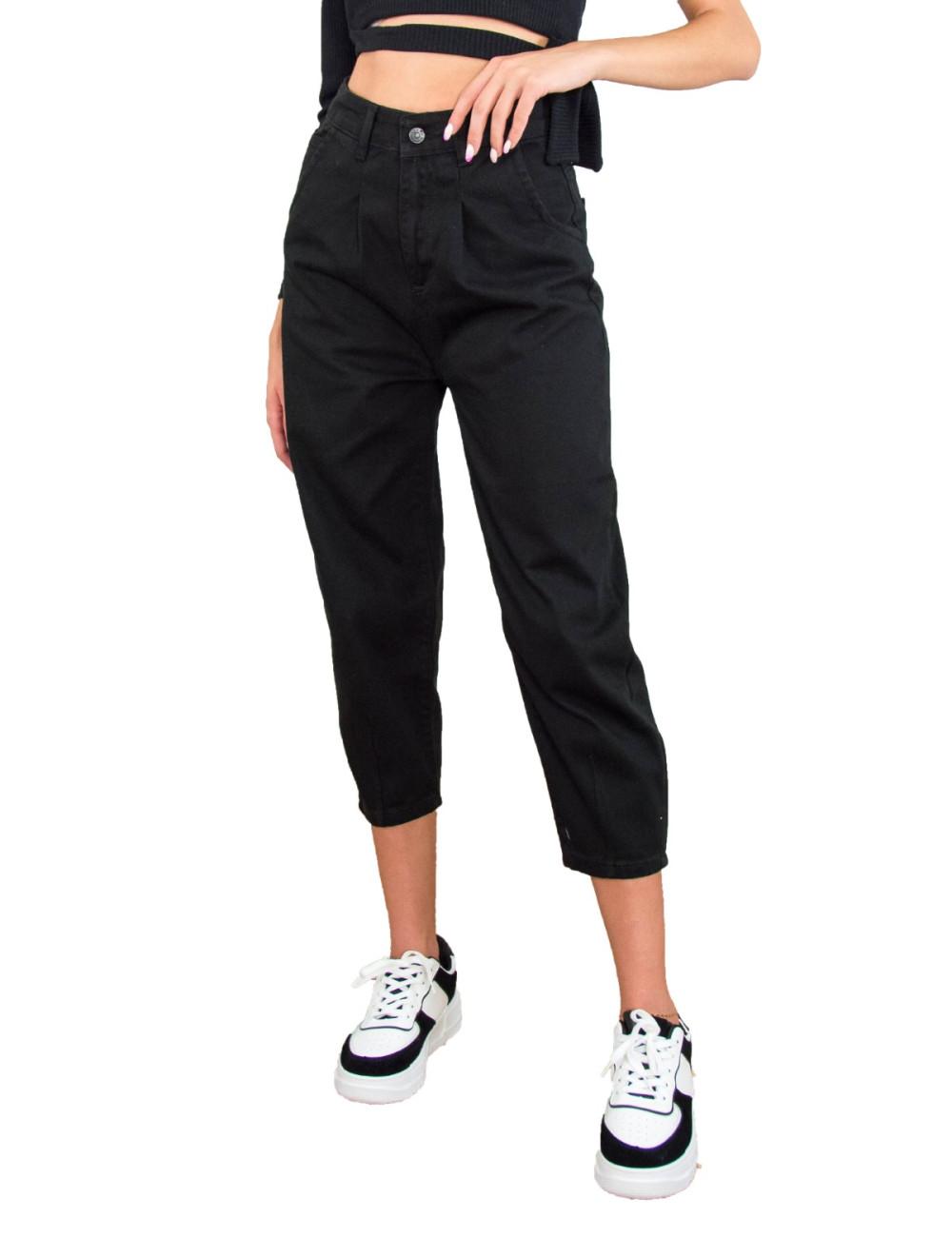 Γυναικείο μαύρο τζιν παντελόνι Buggy LY4304