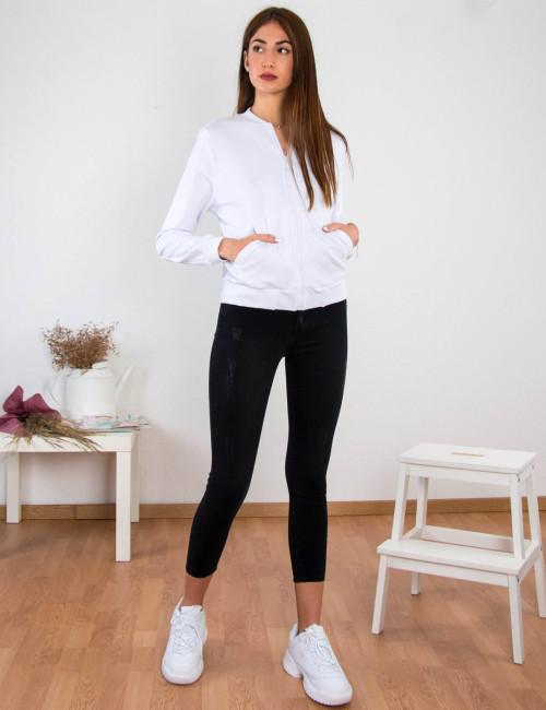 Γυναικείο ανθρακί τζιν παντελόνι με φθορές Plus Size RW568539