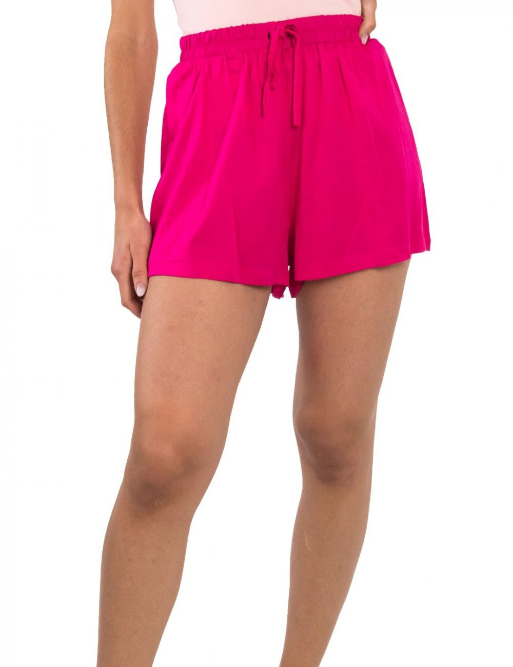 Γυναικείο φούξια σορτς με λάστιχο COOCU 52067F