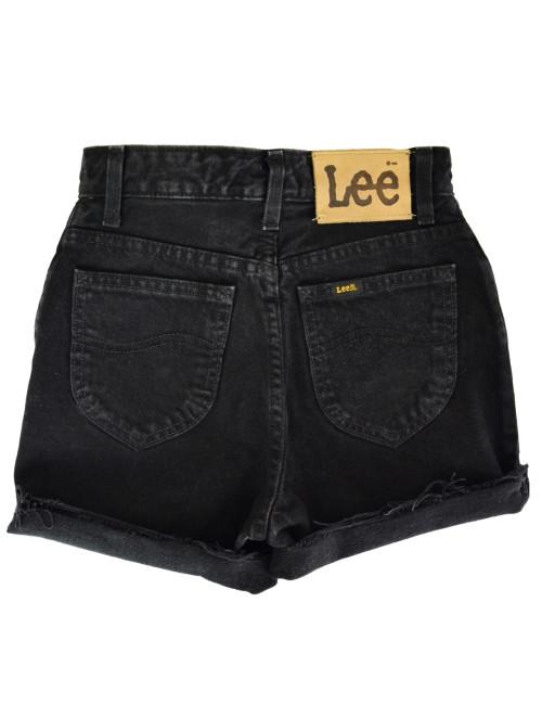 Γυναικείο ψηλόμεσο Vintage σορτς Lee μαύρο L3192247