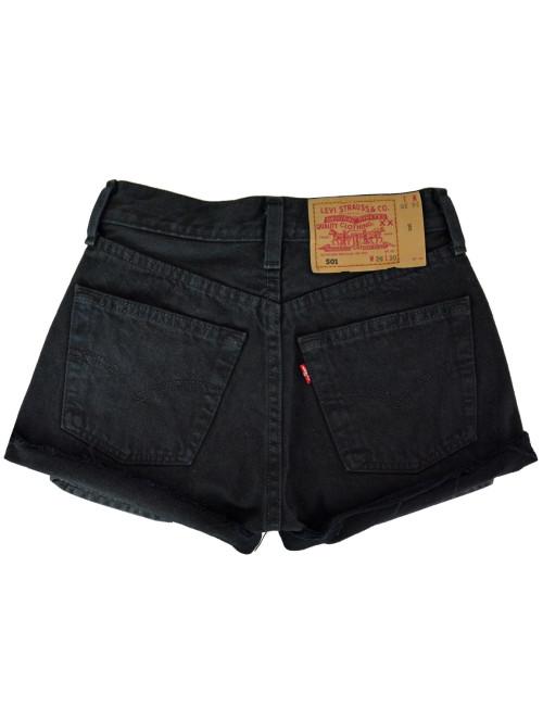 Γυναικείο ψηλόμεσο Vintage σορτς Levis μαύρο 5010165