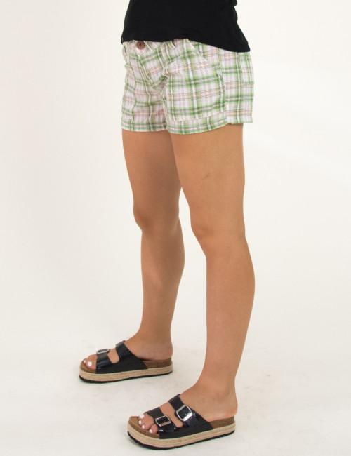 Γυναικείο πράσινο καρό σορτσάκι υφασμάτινο 215983