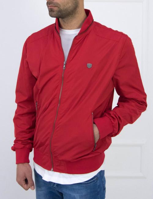 Aνδρικό κόκκινο Fly Jacket τσέπες Inox 15400
