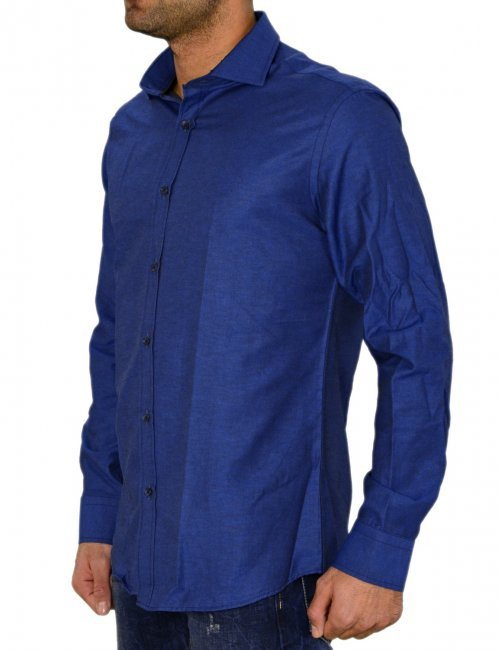 Ανδρικό πουκάμισο GioS μπλε σκούρο 9545W17Q